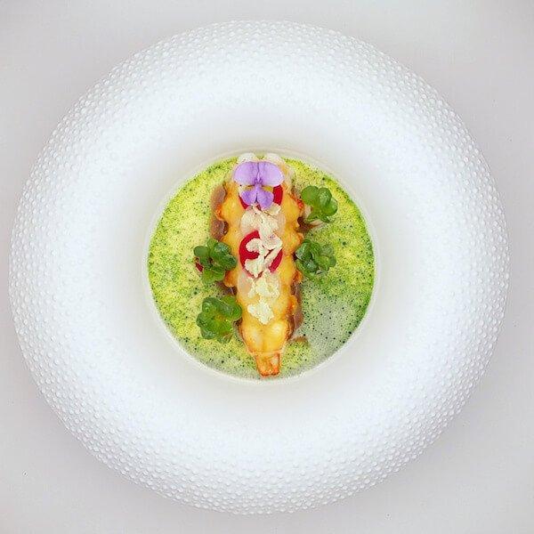 Langoustine auf Bichotan gegrillt | Signature Dishes | Christian Bau